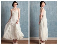Chic wedding gown from rusticweddingchic.com
