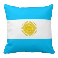 Pillow with an Argentinian flag
