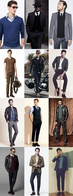 Dressing Techniques - Dark Tonal Outfits, V-Shaped Necks, Subtle Patrterns/Textures & Layering Lighter Colours Underneath