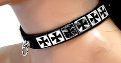 Fetisch Halsband Eisernes Kreuz mit Ring   288