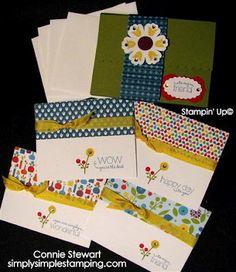 Card Portfolio - Stampin Up Bright Blossom
