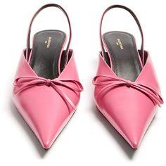 Balenciaga Knife pumps ($795) ❤ liked on Polyvore featuring shoes, pumps, hot pink shoes, hot pink pumps, balenciaga and balenciaga shoes