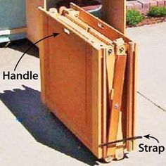 Dan McNair's collapsible, mobile workshop. (this is the folding adjustable multipurpose workbench; it holds all the power tools--table saw, miter saw, etc.)