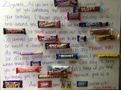 Chocolate message board/poster