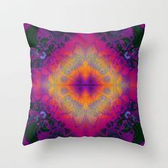 Psyched Throw Pillow by Nina May  - $20.00