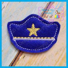 Police Hat Feltie