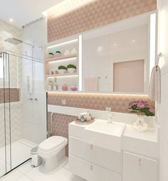 Ideas For Modern Bathroom Apartment Design Modern Bathroom Decor, Glass Bathroom, Bathroom Interior Design, Small Bathroom, Bathroom Wall, Girl Bedroom Designs, Aesthetic Rooms, Dream Rooms, Apartment Design