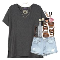"""""""summer should get a speeding ticket"""" by preppy-southern-gals ❤ liked on Polyvore featuring Violeta by Mango, S'well, Tory Burch, Laura Mercier, Free People, Devon Pavlovits, Too Faced Cosmetics, Urban Decay, Maybelline and H&M"""