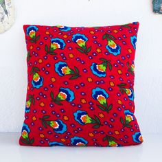 Anatolian Pillow Cover, Anatolian Style 40cm x 40cm - Red - handmade - Traditional