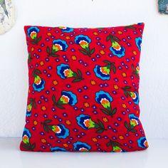 Anatolian Pillow Cover, Anatolian Style 40cm x 40cm - Red - handmade - Traditional