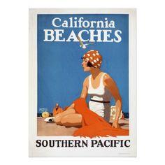 De Stranden van Californië Print