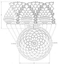 Lampiony ze słoiczków / Lampions from jars Crochet Motifs, Crochet Diagram, Crochet Chart, Crochet Trim, Crochet Doilies, Crochet Stitches, Crochet Patterns, Beau Crochet, Crochet Baby Hats