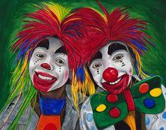 Kid Clowns by PattyVicknairARTIST on Etsy