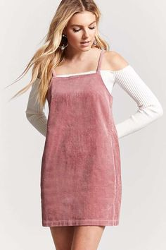 b0002ccf189 FOREVER 21 Corduroy Shift Dress Outfit Goals