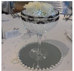 Water Pearls and White Roses. Black Lace. Diamonds and Pearls theme  @Zorie Soberal  love this!!