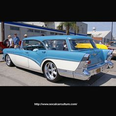 1957 Buick Station Wagon. Perfect car to pull your vintage camping trailer.
