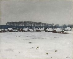 Winterlandschap, Willem Witsen, ca. 1885 - ca. 1922