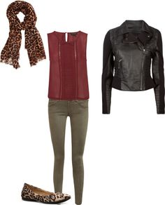 burgundy olive and leopard my closet