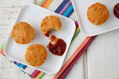Cheesy Turkey Meatloaf Bites - Very easy recipe, you blend everything ...