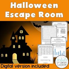 Looking for a fun way to keep students engaged leading up to Halloween? This Halloween Escape Room includes 6 math and ELA challenges! #vestals21stcenturyclassroom #halloween #halloweenactivities #halloweenupperelementary #halloweenescaperoom #classroomescaperoom