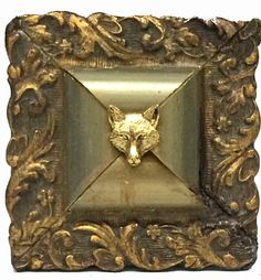 Museum Bee Collection by Trace Mayer. Made with Antique American Frames and Gilt Brass Ormolu Fox.