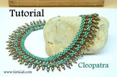 Tutorial Cleopatra SuperDuo Twin Necklace PDF by Lirigal on Etsy