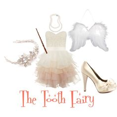 DIY Halloween Costume: Tooth Fairy for adults! #easy #DYI #costume #Halloween #adult #fun #appropriate #work #fairy #wings #white #poofy #dress #white #heels #wand
