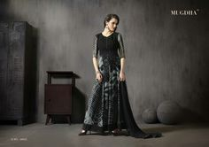 Black shibori hit design by MUGDHA suits