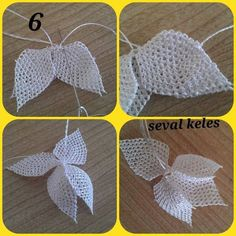 iğne oyası lale örneği needle lace tulip sample You are in the right place about Crochet carpetas Here we offer you the most beautiful pictures. Crochet Beanie Pattern, Easy Crochet Patterns, Crochet Motif, Knitting Patterns, Crochet Bows, Crochet Gifts, Crochet Flowers, Needle Lace, Bobbin Lace