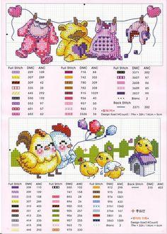 baby bucato e chickens Cross Stitch Bookmarks, Cute Cross Stitch, Cross Stitch Bird, Cross Stitch Animals, Cross Stitching, Cross Stitch Embroidery, Baby Cross Stitch Patterns, Cross Stitch Borders, Cross Stitch Charts