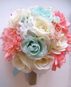 Free Shipping Wedding Bouquet Bridal Silk flower by Rosesanddreams, $219.99