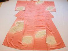 Japanese Vintage Kimono Silk Silky Pink Folding Fan Tsukesage P051802   eBay