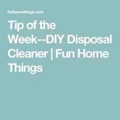 Tip of the Week--DIY Disposal Cleaner   Fun Home Things