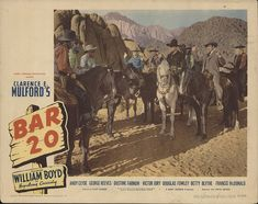 Bar 20 1943 Vintage Original Lobby Card U.S. Lobby Card #FFF-32250 - Andy Clyde, Dustine Farnum, George Reeves, William Boyd - Drama, Western - Condition: Good to Very Good. (Card 8). Some edge wear, scuffing and staining throughout, some creasing in corners, pinhole in top middle section, single-sided and stored flat
