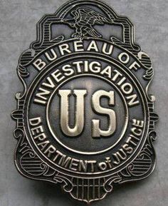 "LAW AND ORDER: ""FBI Badge from 1908. On July 26, 1908, the Federal Bureau of Investigation (FBI) is born when U.S. Attorney General Charles Bonaparte orders a group of newly hired federal investigators to report to Chief Examiner Stanley W. Finch of the Department of Justice. One year later, the Office of the Chief Examiner was renamed the Bureau of Investigation, and in 1935 it became the Federal Bureau of Investigation."" [policebadge.org]"