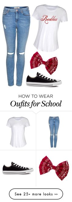 """""""School outfit #1"""" by amandasayshey on Polyvore featuring Topshop, Converse and James Perse"""