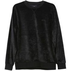 Stussy Velour Sweatshirt ($49) ❤ liked on Polyvore featuring tops, hoodies, sweatshirts, stussy sweatshirt, stussy, velour tops and velour sweatshirt