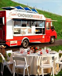 Sam's Chowder Mobile's offer offsite catering for wedding receptions, rehearsal dinners, bridal showers and more!