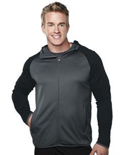 Men's Fleece Long Sleeve Ultra Cool Jacket With Hood (100% Polyester). Tri mountain 7389 #Jacket #Zipper #Ultracool