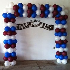 Square arch backdrop that can be made in any color combination. #partyprops #balloonarch #backdrop
