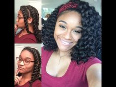 Natural Hair | Flat Twist Out Tutorial - YouTube