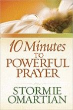 10 Minutes To Powerful Prayer  Prayer is a very powerful tool we all need to be using.  The author of the best-selling Power of a Praying series provides a handy resource for those new to prayer and those wanting to increase the depth in their conversations with God, providing a tool to make morning--one of the most precious times of the day--rich and rewarding. Original.  $6.29  http://www.sistersofsalvation.com/item/stormie-omartian/10-minutes-to-powerful-prayer/636843.html#