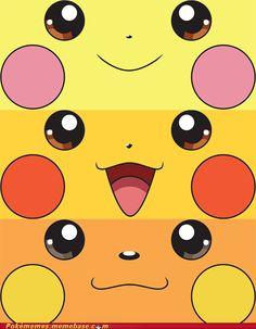 Pichu, Pikachu and Raichu