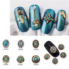 Type: Bohemian Style Nail Decoration Style: 06 Quantity: 10 Pcs/Bag Weight: Approx Package Included: 10 Pcs X Bohemian Style Nail Decoration Manicure Tools, Nail Manicure, Hippie Style, Bohemian Style, Give You Up, Diy Pins, Nail Shop, Nail Decorations, Nail Art Hacks