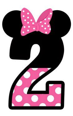 Números tema do Mickey e Minie Mouse