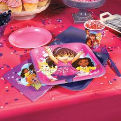 Dora & Friends Party Supplies | Celebrate your birthday with Dora & Friends! From tableware and decorations to favors and more, you'll find all the Dora party supplies you need. #Dora #party #supplies