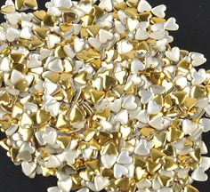 10g/bag DIY Heart Acrylic Gold Sliver 3d Nail Art Decorations Charms Glitter Nail Decoration Tools Sticker Tips