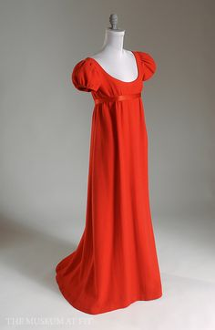 Norman Norell | Norman Norell, dress, red wool crepe and satin, 1962