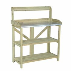 Sunjoy Randal Planter features three main shelves and a smaller display shelf. Constructed of wood with a protective finish to help increase its longevity, the planter will be a wonderful display or functional piece or your outdoor decor.