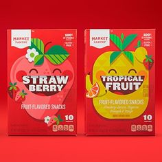 new Ideas fruit illustration packaging Packaging Snack, Kids Packaging, Candy Packaging, Juice Packaging, Food Packaging Design, Packaging Design Inspiration, Box Packaging, Chocolate Packaging, Box Branding